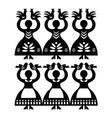 Polish folk art pattern Wycinanki Kolbielskie vector image
