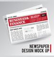 realistic economic newspaper vector image