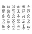 leisure and tourism icons vector image