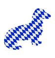 Bavarian longhaired badger vector image