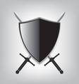 Shield and sword vector image vector image