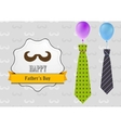 Fathers Day retro vintage background with ties and vector image