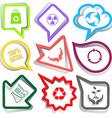bag radiation symbol recycle symbol 100 natural vector image