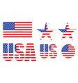 badges made of United States flag vector image vector image