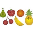 Happy Fruits Set vector image