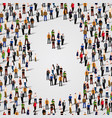 large group of people in number 8 eight form vector image