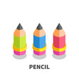 pencil icon symbol vector image