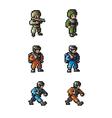 Pixel soldier vector image