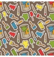 Seamless Pattern with Multicolored vector image