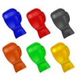 Set of Colorful Boxing Gloves vector image