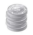 silver coins vector image