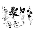 simple floral elements vector image
