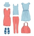 Summer clothes for woman vector image