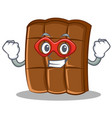 super hero chocolate character cartoon style vector image