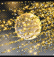 the falling meteor rain comet in space meteor vector image