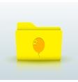 yellow folder on blue background Eps10 vector image