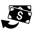 Cashback Flat Icon vector image