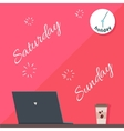Saturday and Sunday Holiday Official Day Off vector image