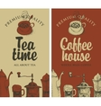 tea and coffee with kitchen equipment vector image vector image