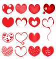 collection of red hearts vector image
