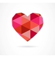 vintage geometric heart vector image vector image