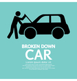 Broken Down Car vector image