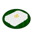 Delicious Sweet Sticky Rice on Banana Leaf vector image
