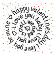 Valentines day round lettering vector image