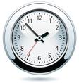 silver clock vector image vector image