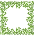 Background frame of green leaves vector image