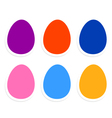 Colorful easter eggs collection isolated on white vector image