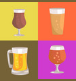 different types of beer on vector image