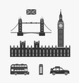 england london elements vector image