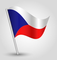 flag czech republic vector image