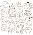 Halloween Icons vector image
