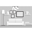 Interior Living Room Furniture 3d Realistic Design vector image