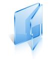 open folder vector image
