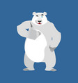 polar bear winks emoji wild animal arctic and vector image