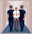 Police officers arrested businessman at office vector image