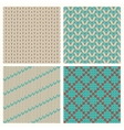Set of seamless knitting patterns vector image
