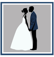 Silhouette Wedding couple in love vector image