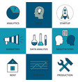 stock linear icon business development vector image