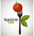 vegan food design vector image