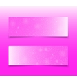 Horizontal Pink Rectangle Banners Snow Winter vector image