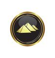 Pyramids icon vector image