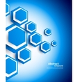 Background with hexagons vector image vector image