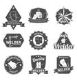 Welder labels set vector image