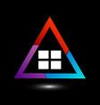 Logo showing growing real estate market vector image vector image