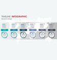 abstract element timeline infographics 6 option vector image