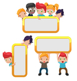 Cartoon Kids Cute Frame Border vector image